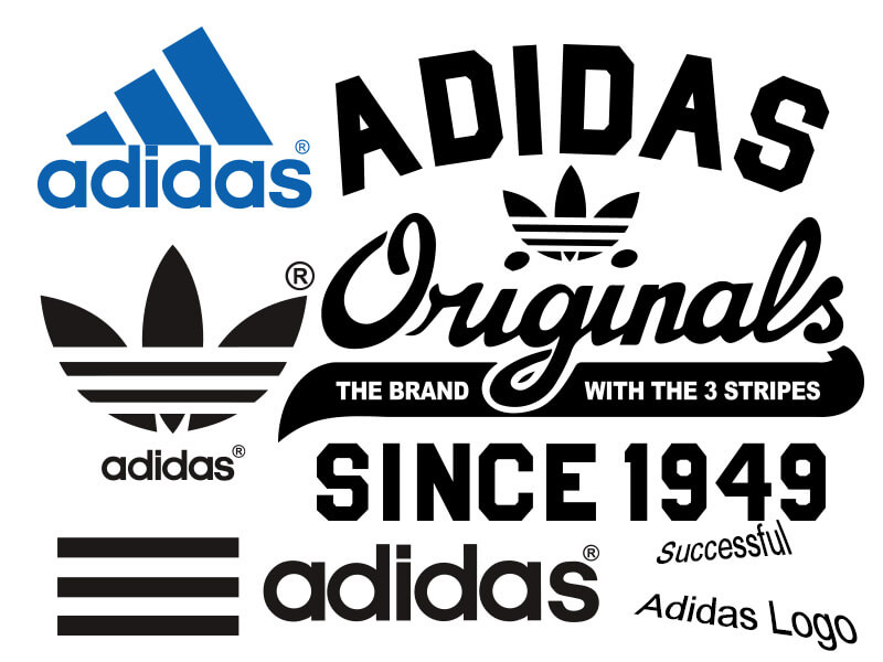 Successful Adidas logo