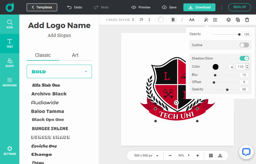 Turn Ideas & Concepts to Logo Designs with DesignEvo.com for Free