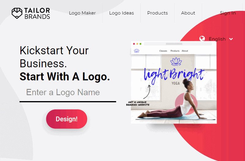 Adobe Spark Logo Maker Similar Tool - TailorBrands Logo Maker