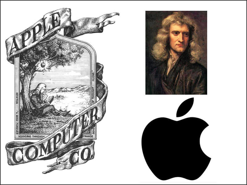 Newton & Apple logo design