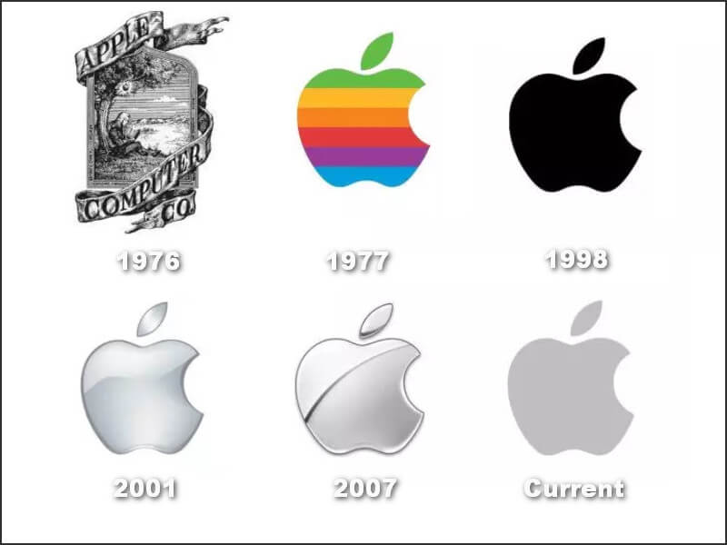 The history of Apple logo designs