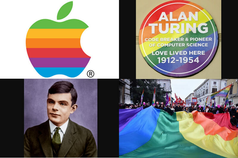 Apple logo design and Turing sufferings