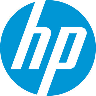 HP blue logo design