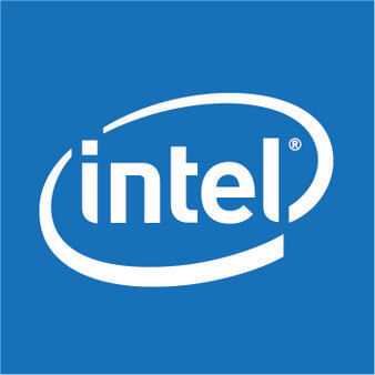 Intel blue logo design