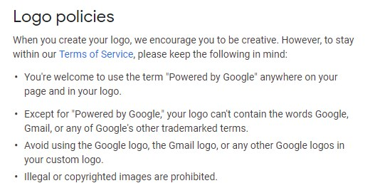 Change the Google Logo Policies