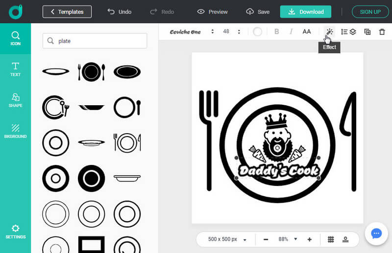 turn your design thinking to a logo illustration