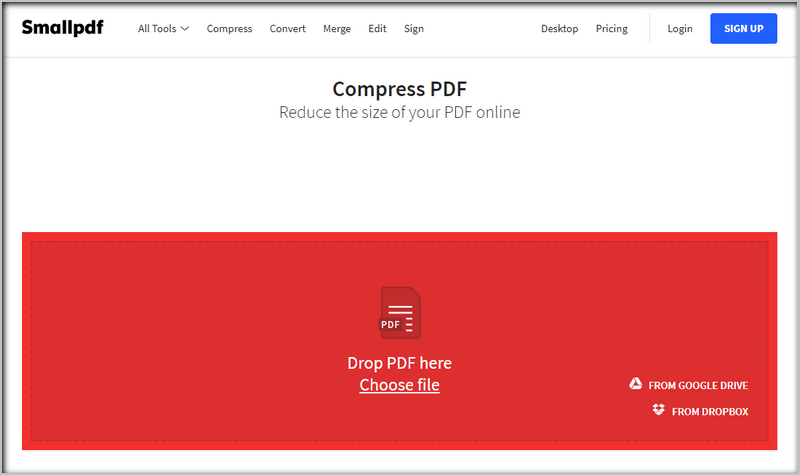 Smallpdf compresses your PDF photo.