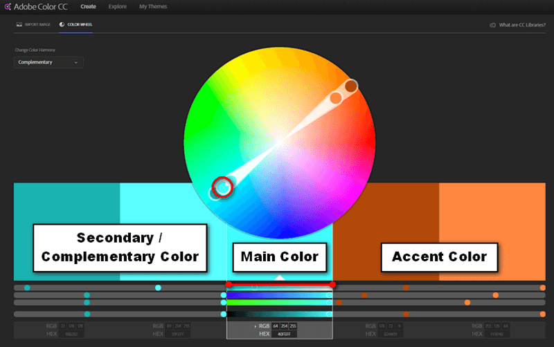 How to use Adobe color wheel to pick colors.