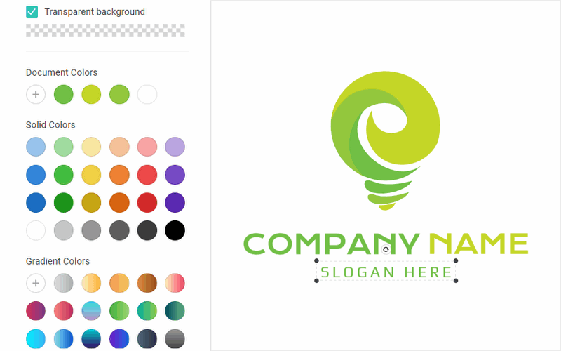 Make your own green color logo.
