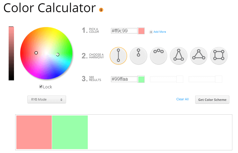 Sessions color calculator to find best colors.