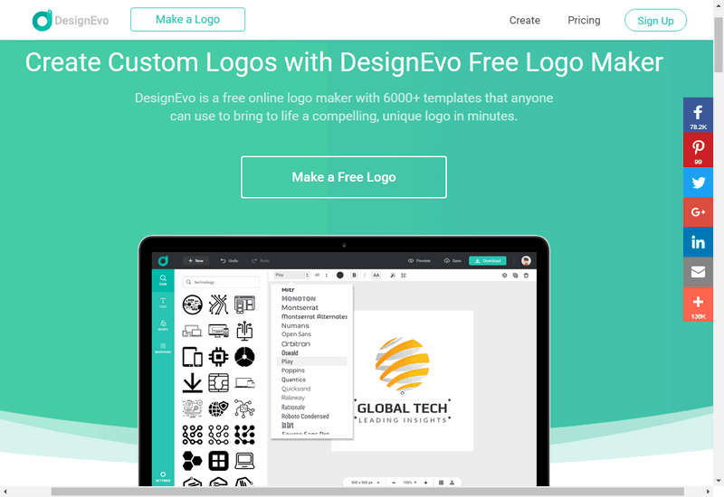 DesignEvo icon maker