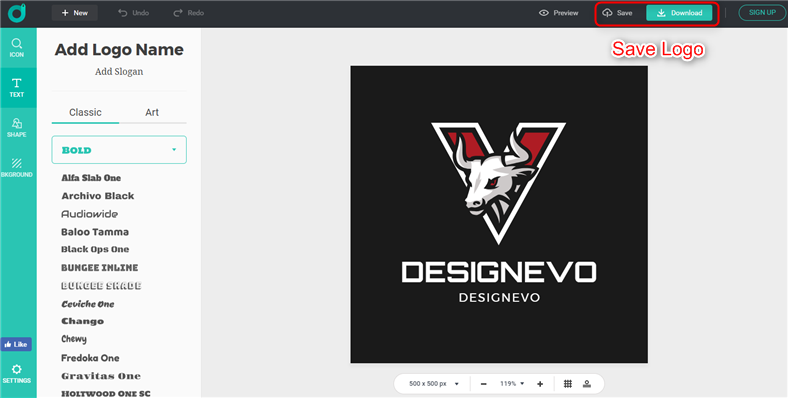 Make an Esports Logo with Esports Logo Maker – Step 4