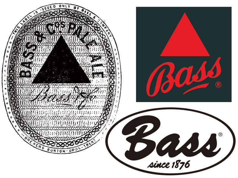 World first logo - Bass Ale beer in 1876