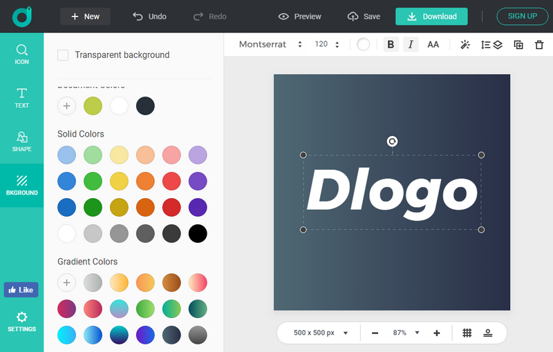 DIY your logotype design in DesignEvo.