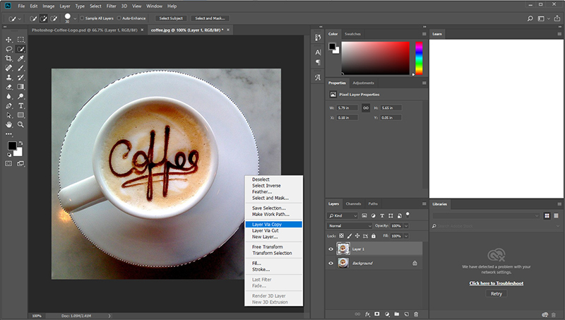How to use Photoshop Selection Tool.