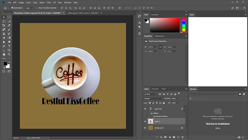 How to Make A Logo in Photoshop or without PS - Beginner Photoshop