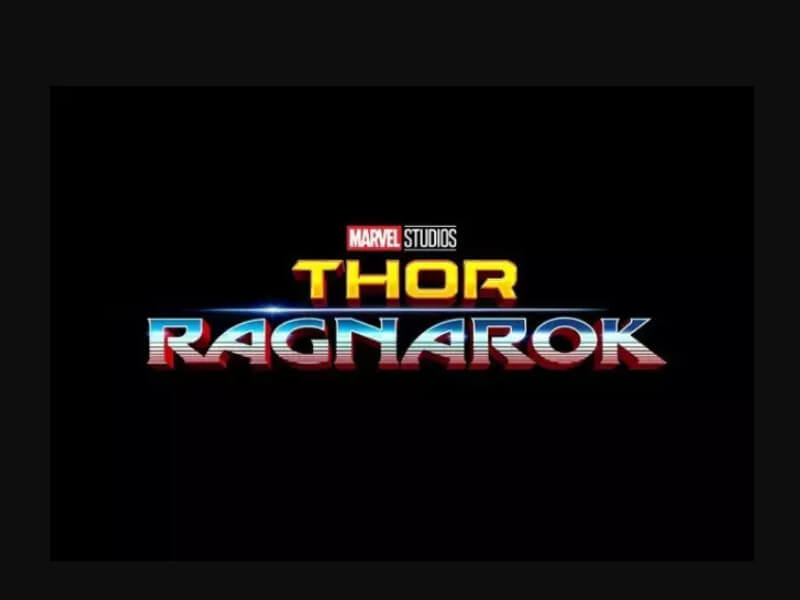 Marvel uses 2 fonts in Thor logo