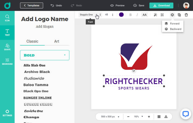 Customize your own Nike logo