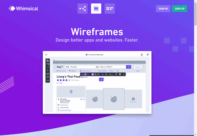 Free Wireframe with Whimsical