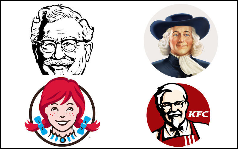 Famous people logo templates that's carefully outlined