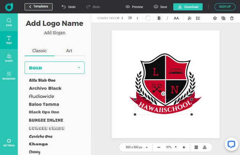 Design And Customize Your Red Logo Freely