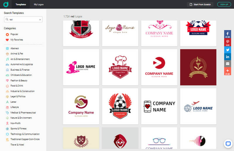 Find Available Red Logo Ideas For Free