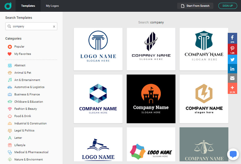Search for business logo ideas for trademark.