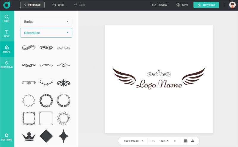DesignEvo Tutorial | How to Add Shapes to Logos