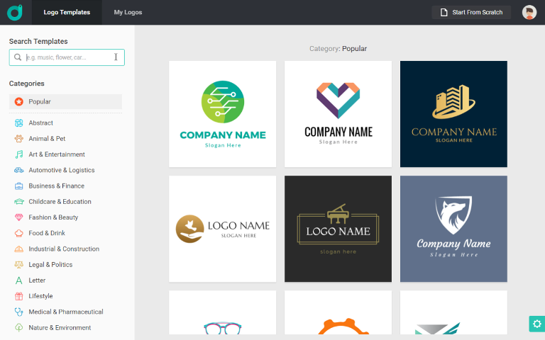 Kostenloser Online Logo Editor Eigenes Design Logo