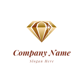 3D Beautiful Yellow Jewelry logo design