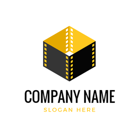 3D Box and Film logo design