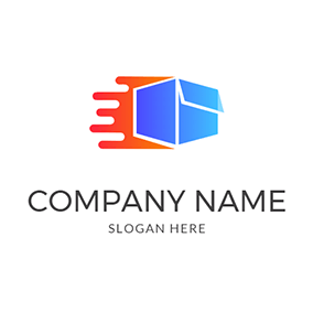 3D Box Speed Courier logo design