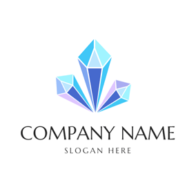 3D Colorful Crystal logo design