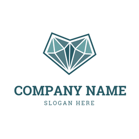 3D Green Diamond and Jewelry logo design