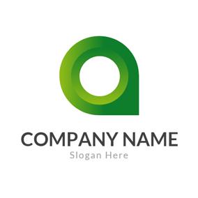 3d green letter o logo design