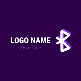 3D Simple Bluetooth logo design