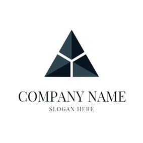 3D Triangle and Delta Sign logo design