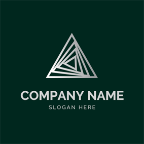 3D Triangular and Delta Sign logo design