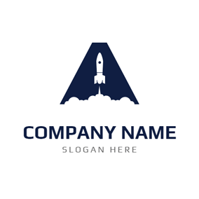 A Shape and Rocket logo design