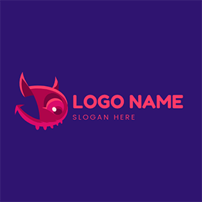 Abstract and Adorable Devil logo design