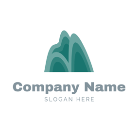 Abstract and Flat Mountain logo design