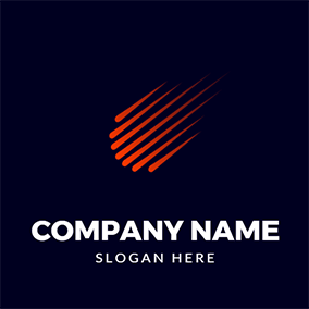 Abstract and Simple Comet logo design