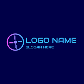 Abstract and Simple Gradient Drone logo design