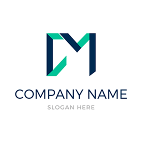 Abstract and Simple Letter C M logo design