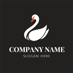Abstract and Simple Swan logo design