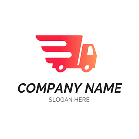 Abstract and Simple Truck logo design