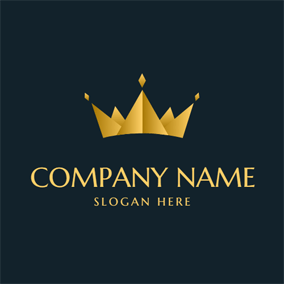 Abstract and Simple Yellow Crown logo design