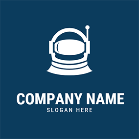 Abstract and Unique Astronaut logo design