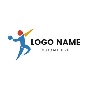 Abstract Athlete and Handball logo design