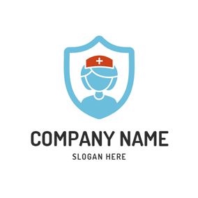 Abstract Badge and Nurse logo design